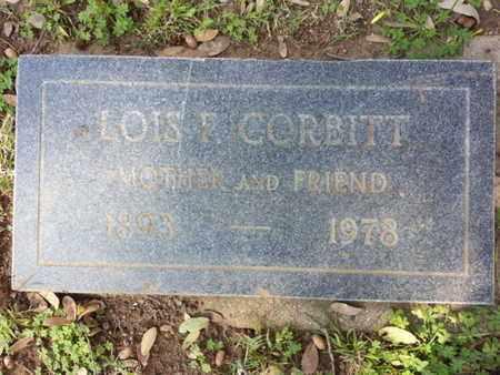 CORBITT, LOIS F. - Los Angeles County, California | LOIS F. CORBITT - California Gravestone Photos