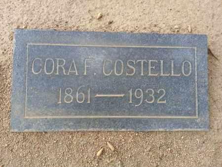 COSTELLO, CORA F. - Los Angeles County, California | CORA F. COSTELLO - California Gravestone Photos