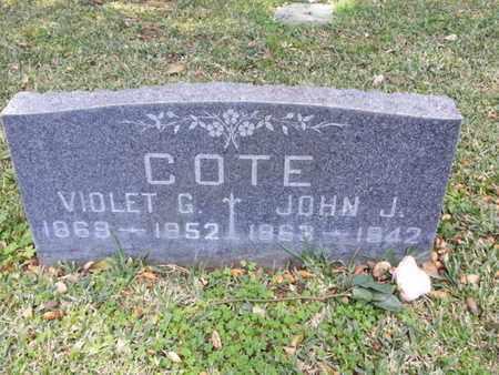 COTE, VIOLET G. - Los Angeles County, California | VIOLET G. COTE - California Gravestone Photos