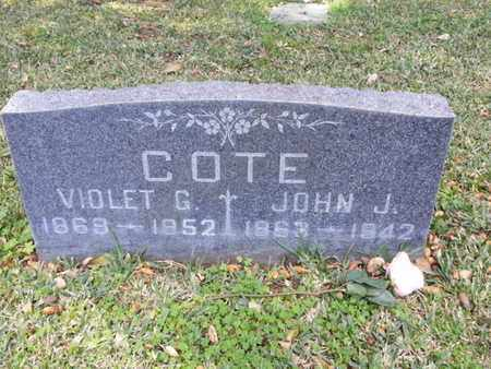 COTE, JOHN J. - Los Angeles County, California | JOHN J. COTE - California Gravestone Photos