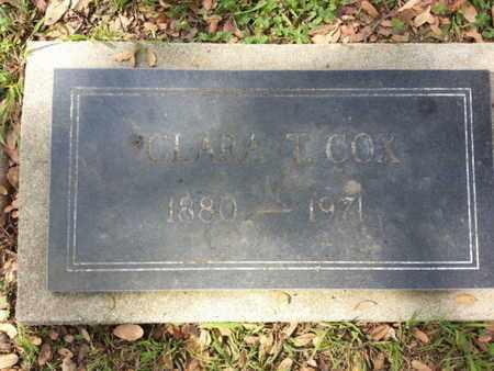 COX, CLARA T. - Los Angeles County, California | CLARA T. COX - California Gravestone Photos