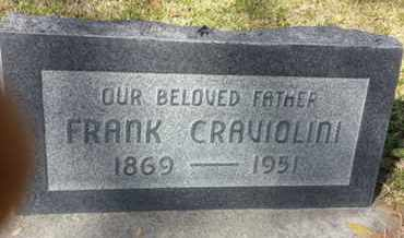 CRAVIOLINI, FRANK - Los Angeles County, California | FRANK CRAVIOLINI - California Gravestone Photos