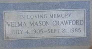 CRAWFORD, VELMA - Los Angeles County, California   VELMA CRAWFORD - California Gravestone Photos