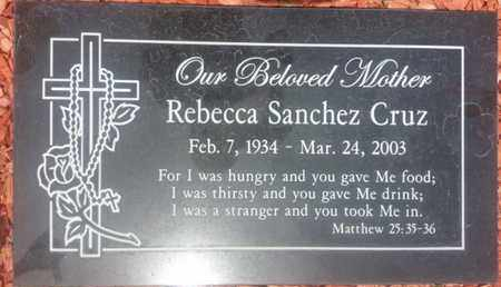 CRUZ, REBECCA - Los Angeles County, California | REBECCA CRUZ - California Gravestone Photos
