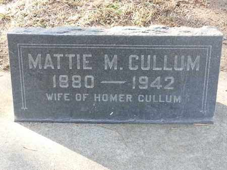 CULLUM, MATTIE M. - Los Angeles County, California | MATTIE M. CULLUM - California Gravestone Photos