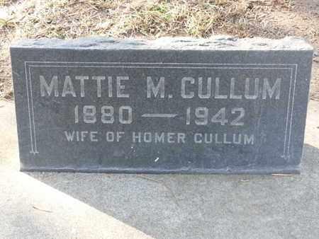 CULLUM, MATTIE M. - Los Angeles County, California   MATTIE M. CULLUM - California Gravestone Photos