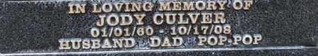 CULVER, JODY - Los Angeles County, California   JODY CULVER - California Gravestone Photos