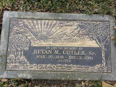 CUTLER, BEVAN M, SR - Los Angeles County, California | BEVAN M, SR CUTLER - California Gravestone Photos