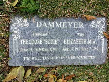 DAMMEYER, THEODORE - Los Angeles County, California | THEODORE DAMMEYER - California Gravestone Photos