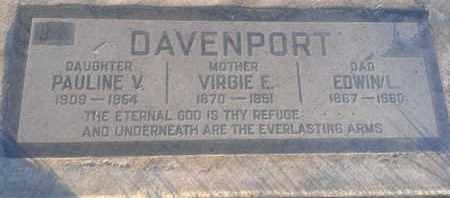 DAVENPORT, PAULINE - Los Angeles County, California   PAULINE DAVENPORT - California Gravestone Photos