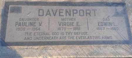 DAVENPORT, PAULINE - Los Angeles County, California | PAULINE DAVENPORT - California Gravestone Photos