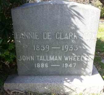 DE CLARK, TANNIE - Los Angeles County, California   TANNIE DE CLARK - California Gravestone Photos