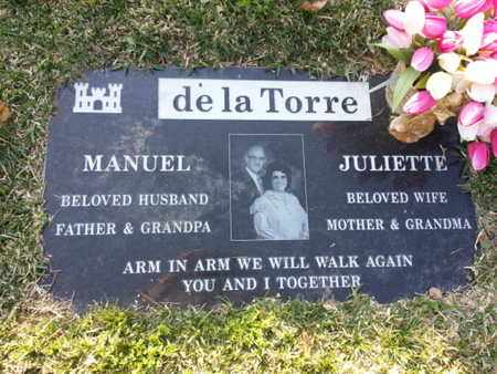 DE LA TORRE, JULIETTE - Los Angeles County, California | JULIETTE DE LA TORRE - California Gravestone Photos
