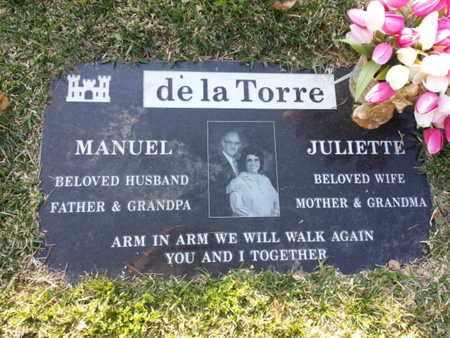 DE LA TORRE, MANUEL - Los Angeles County, California | MANUEL DE LA TORRE - California Gravestone Photos