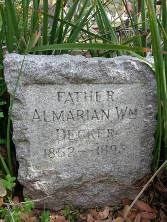 DECKER, ALMARIAN WM - Los Angeles County, California | ALMARIAN WM DECKER - California Gravestone Photos