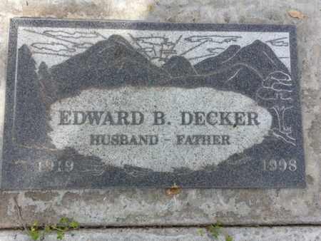 DECKER, EDWARD B. - Los Angeles County, California | EDWARD B. DECKER - California Gravestone Photos