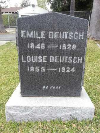 DEUTSCH, EMILE - Los Angeles County, California   EMILE DEUTSCH - California Gravestone Photos