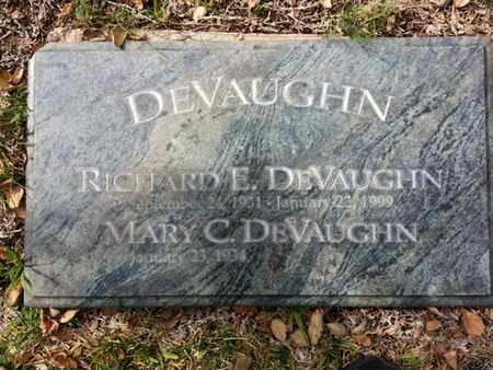 DEVAUGHN, RICHARD E. - Los Angeles County, California | RICHARD E. DEVAUGHN - California Gravestone Photos