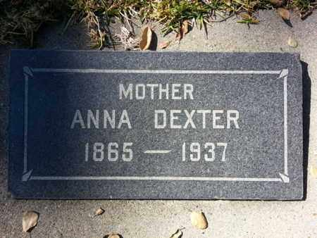 DEXTER, ANNA - Los Angeles County, California | ANNA DEXTER - California Gravestone Photos
