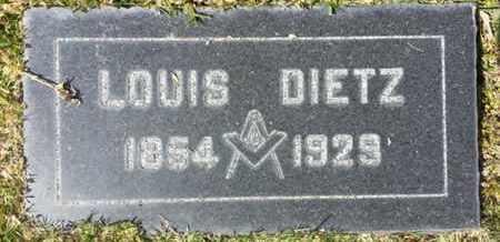 DIETZ, LOUIS - Los Angeles County, California | LOUIS DIETZ - California Gravestone Photos