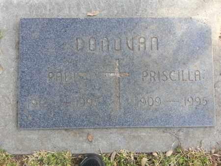 DONOVAN, PRISCILLA - Los Angeles County, California | PRISCILLA DONOVAN - California Gravestone Photos