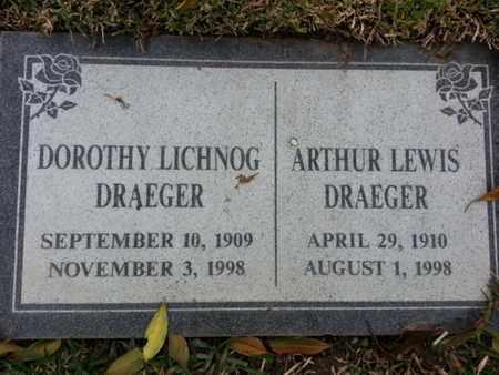 DRAEGER, ARTHUR - Los Angeles County, California | ARTHUR DRAEGER - California Gravestone Photos