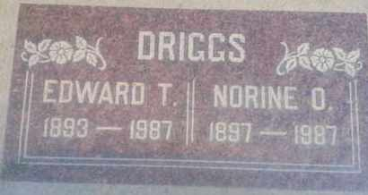 DRIGGS, EDWARD - Los Angeles County, California | EDWARD DRIGGS - California Gravestone Photos