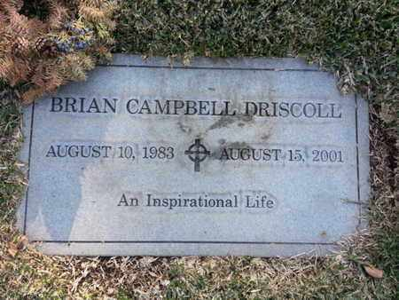 DRISCOLL, BRIAN CAMPBELL - Los Angeles County, California | BRIAN CAMPBELL DRISCOLL - California Gravestone Photos