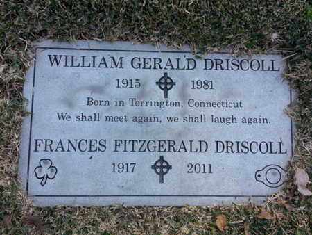 FITZGERALD DRISCOLL, FRANCES - Los Angeles County, California | FRANCES FITZGERALD DRISCOLL - California Gravestone Photos