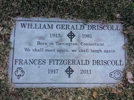 FITZGERALD DRISCOLL, FRANCES - Los Angeles County, California | FRANCES FITZGERALD DRISCOLL - California Gravestone Photos
