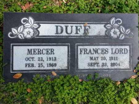 DUFF, MERCER - Los Angeles County, California   MERCER DUFF - California Gravestone Photos