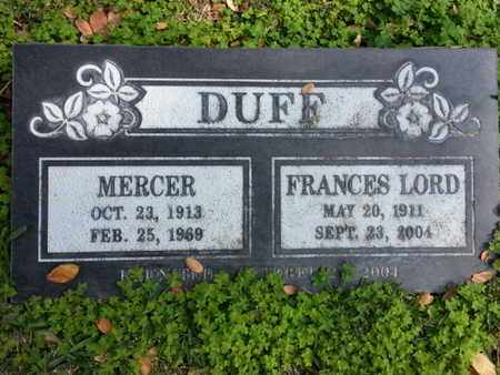 DUFF, MERCER - Los Angeles County, California | MERCER DUFF - California Gravestone Photos