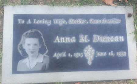 DUNCAN, ANNA - Los Angeles County, California   ANNA DUNCAN - California Gravestone Photos