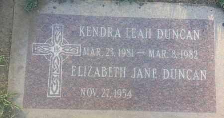 DUNCAN, ELIZABETH - Los Angeles County, California   ELIZABETH DUNCAN - California Gravestone Photos