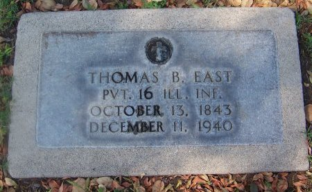 EAST, THOMAS B.  [CW] - Los Angeles County, California | THOMAS B.  [CW] EAST - California Gravestone Photos