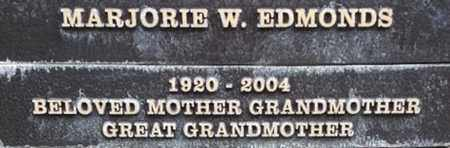 EDMONDS, MARJORIE W. - Los Angeles County, California | MARJORIE W. EDMONDS - California Gravestone Photos
