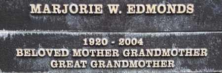 EDMONDS, MARJORIE W. - Los Angeles County, California | MARJORIE W. EDMONDS - California Gravestone Photos
