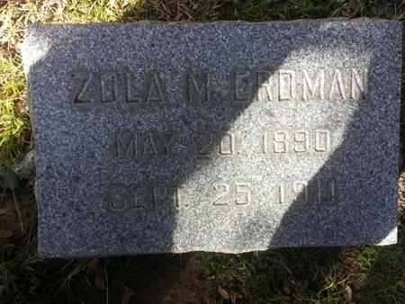 EROMAN, ZOLA M. - Los Angeles County, California | ZOLA M. EROMAN - California Gravestone Photos