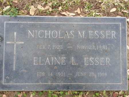 ESSER, NICHOLAS M. - Los Angeles County, California | NICHOLAS M. ESSER - California Gravestone Photos
