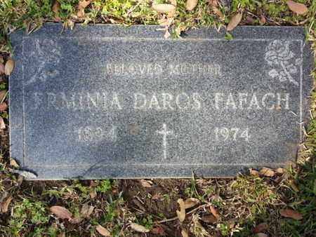 DAROS FAFACH, ERMINIA - Los Angeles County, California | ERMINIA DAROS FAFACH - California Gravestone Photos