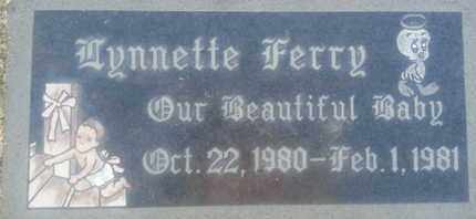 FERRY, LYNNETTE - Los Angeles County, California | LYNNETTE FERRY - California Gravestone Photos