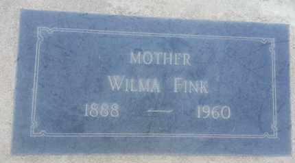 FINK, WILMA - Los Angeles County, California   WILMA FINK - California Gravestone Photos