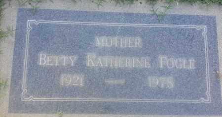 FOGLE, BETTTY - Los Angeles County, California   BETTTY FOGLE - California Gravestone Photos