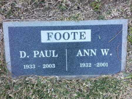 FOOTE, ANN W. - Los Angeles County, California | ANN W. FOOTE - California Gravestone Photos