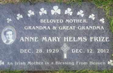 HELMS FRIZE, ANNE - Los Angeles County, California | ANNE HELMS FRIZE - California Gravestone Photos
