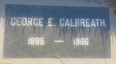 GALBREATH, GEORGE - Los Angeles County, California | GEORGE GALBREATH - California Gravestone Photos