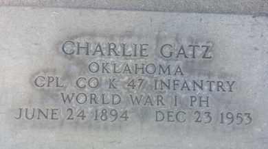 GATZ, CHARLIE - Los Angeles County, California   CHARLIE GATZ - California Gravestone Photos