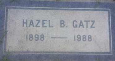 GATZ, HAZEL - Los Angeles County, California | HAZEL GATZ - California Gravestone Photos