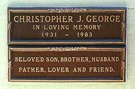 GEORGE, CHRISTOPHER JOHN (ACTOR) - Los Angeles County, California   CHRISTOPHER JOHN (ACTOR) GEORGE - California Gravestone Photos