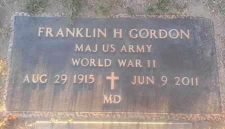 GORDON, FRANKLIN - Los Angeles County, California | FRANKLIN GORDON - California Gravestone Photos
